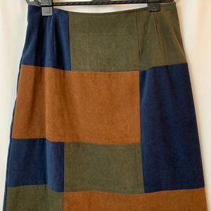 Women's Faux Suede Skirt, Size 10P